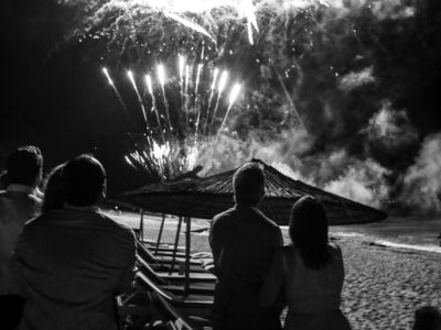 Rings, Cake and Fireworks at Halkidiki