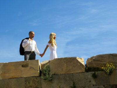 Engagement portraits at athens