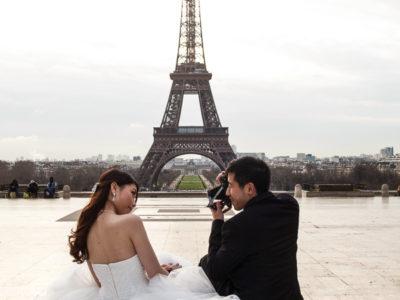 wedding portraits photography at destination Paris - France